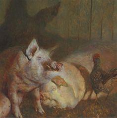 Night Pigs by Jamie Wyeth