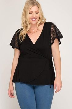 703496c6af8a4 Wrapped in Lace Blouse
