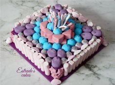 Estrade's cakes: tarta de chuches con los colores de Violetta