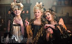 Cinderella's Stepmother (Christine Baranski, center) with evil stepsisters Lucinda (Lucy Punch) and Florinda (Tammy Blanchard). #IntotheWoods