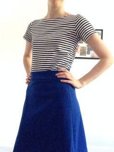 Coco top and Delphine skirt (Tilly and the Buttons patterns) - all knit fabrics!