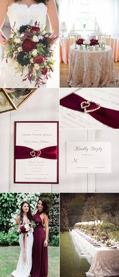 Stylish Wedding Decoration Ideas Inspired by Burgundy Color and Lace