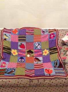 Knitted blanket made by myself ,designed by Debbie Abrahams