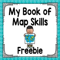 Map Skills Book - This book introduces map skills to your students. The pages in the books are: the globe, map symbol - Map Symbols, Social Studies Maps, Social Studies Elementary, Kindergarten Social Studies, Kindergarten Science, Teaching, Study, Halloween Word Problems, Geography Map