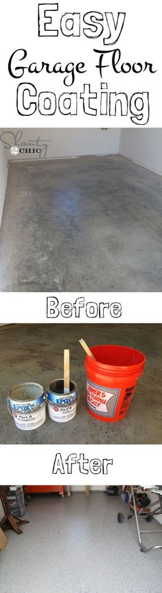 EASY and INEXPENSIVE garage floor makeover!.