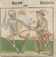 Der doten dantz mit figuren, clage vnd antwort schon von allen staten der werlt [Heidelberg] : [Heinrich Knoblochtzer], [nicht nach 1488] Ink T-398 / Im.mort. 1 Folio 34