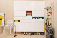 so much to love about this ikea storage! DENMARK ikea is amazing. Dont think we have all these products in Western Australia though. Ikea Shelves, Ikea Storage, Shoe Storage, Storage Boxes, Storage Ideas, Ikea Metod Kitchen, Kitchen Cabinets, Ikea Laundry Room, Design Ikea