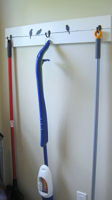 broom and mop hanger. Great for laundry room