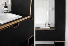 Georgia Cannon Interior Design // M2 House // white; black; form ply; Aesop // Photographer: Toby Scott