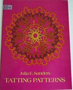 Another great shuttle tatting pattern book. This one contains 116 beautiful patterns but also detailed and simple directions telling you what