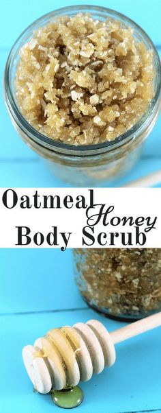 Oatmeal Honey Body Scrub made at home. Skin care at home can both be inexpensive and effective. I love this oatmeal honey body scrub for its exfoliation power and simplicity. … #oatmealbodyscrub #honeybodyscrub #homemadebodyscrub
