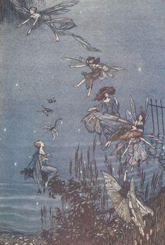 """Arthur Rackham - illustration from """"Peter Pan in Kensington Gardens"""""""
