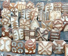 Hand-carved Gourd Stamps