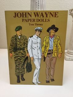 John Wayne Paper Dolls Book by Tom Tierney Dover Full Color 1981 New Uncut USA #Dover