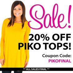 ATTN: Piko Lovers!!! We've got Pikos on sale - all Pikos in stock are 20% off with the coupon code PIKOFINAL! All sales final. Tell us below what colors you got!