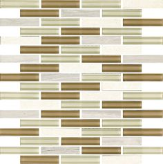 Gray Linear Glass Stone Mosaic Tile  in stock $13.69/SF