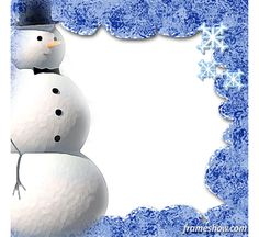 Snowman Christmas ecard/photo frame