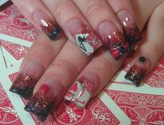 Playing card of nails