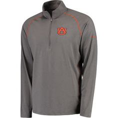 Men's Columbia Gray Auburn Tigers Collegiate Tuk Mountain Half-Zip XL Long Sleeve T-Shirt