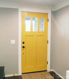 Paint the inside of the Entry Door