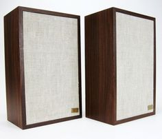 ACOUSTIC RESEARCH AR-7 BOOKSHELF SPEAKERS VINTAGE NEW SURROUNDS * NICE! #AcousticResearch