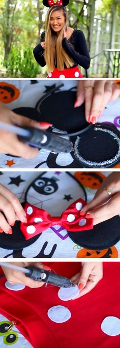 Minnie Mouse 26 DIY Halloween Costume Ideas for Teen Girls that will totally rock the party! Cute Halloween Costumes, Halloween Crafts, Halloween 2017, Halloween Party, Party Costumes, Halloween Costumes For Teens Girls, Diy 2019, Halloween Kleidung, Minnie Mouse Costume