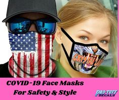 Order exquisite quality custom-designed face masks such as lightweight fabric face cover, imprinted medical-style face masks and bandanas. #masks #facemasks #bandanas #bandanamasks