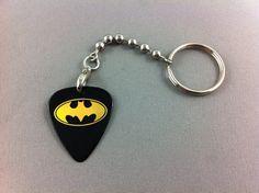 BATMAN Guitar Pick Keychain Pick detaches for use by EGOpicks