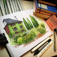Noakes Garden sketchbook