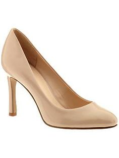 I need a neutral shoe but why the heck do all heels in my size have to be patent?! Nine West Drusilla | Piperlime