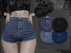 The Sims 4 Shorts Vintage Mods Sims, Sims 4 Mods Clothes, Sims 4 Cc Kids Clothing, Sims 4 Game Mods, The Sims 4 Pc, Sims Four, Sims Cc, Vêtement Harris Tweed, Sims 4 Anime