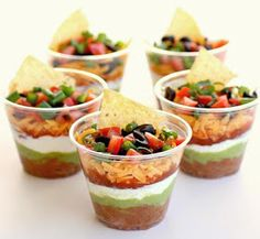 Souschef Secrets: 7 Layer Dip Mini's - Make it Personal | this would be so cool for a party!!!