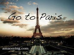 #Paris #bucketlist #amaceying  I want to go to paris!