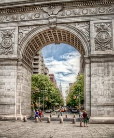 "Washington Sq. Park - NYC • ""Under The Arch"" by Ingo Meckmann on http://500px.com/photo/1929202"