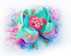 Coral Reef Boutique Bow. This is soooo cute for a little girl.(: