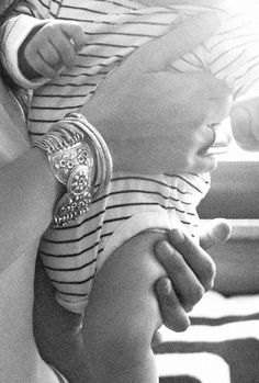 Silver and stripes on Rebecca Minkoff and baby Luca  http://www.theglow.com/rebecca-minkoff/?i#12