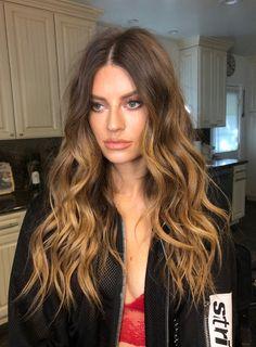 Pinterest: DeborahPraha ♥️ blonde ombre hair color for brunettes and long hair #haircolor