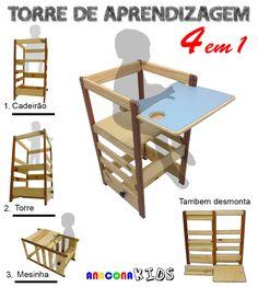 torre de Aprendizagem Montessori 4 em 1, Anacona Kids