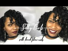 My first time using flexi rods - SILKY CURLS! - YouTube