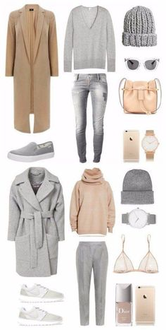 new Ideas travel outfit winter weekend casual Capsule Outfits, Fashion Capsule, Komplette Outfits, Capsule Wardrobe, Fashion Outfits, Travel Outfits, Fashion Clothes, Minimalist Wardrobe, Minimalist Fashion