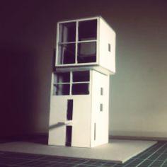 Maquete casa 4x4 Casa cubo #tadaoando #projetodafaculdade