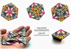 FREE TUTORIAL: Lucy Struncova - Polymer clay kaleidoscope cane in just fifteen minutes.