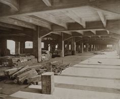 London docklands warehouse under construction