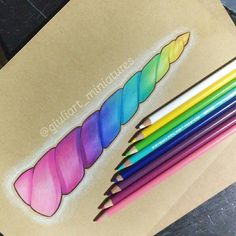 Rainbow unicorn horn drawing. prismacolor pencil on paper #sketch #pencil #kawaii #artistsofinstagram #art #rainbow #cute #girly #colorfull #drawing #lovely #unicorn #doodle #iloveart #traditionalart #illustration #unicornhorn #horn #pencildrawing #coloredpencil