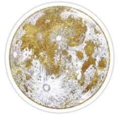 """""""Goldenes Mond-Muster"""" Sticker von Arell   Redbubble"""