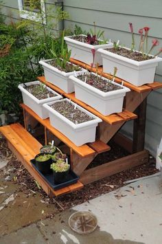 Project: Tiered Plant Stand using stair stringers and tread