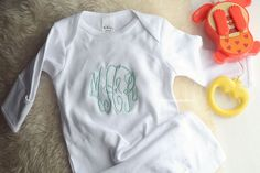 Monogram Nightgown, Baby Nightgown, Coming Home Outfit by SweetMamaMakes on Etsy