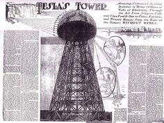 La torre de tesla en los periodico de la época