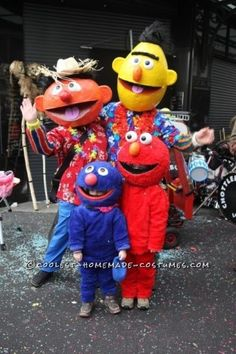 Homemade elmo costume halloween costume pinterest elmo costume sesame street costumes with papier mache masks solutioingenieria Choice Image