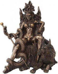 Goddess Hel ( daughter of Loki )  Bronze Statue Goddess of Helheim